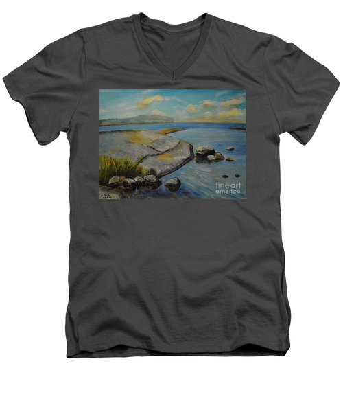 Seascape From Hamina 1 Men's V-Neck T-Shirt