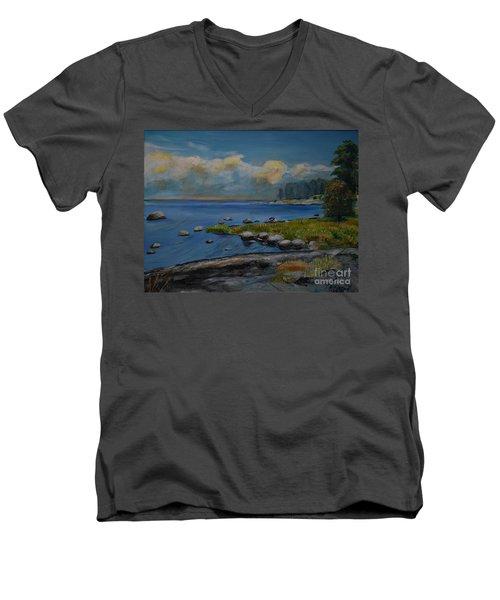 Seascape From Hamina 2 Men's V-Neck T-Shirt