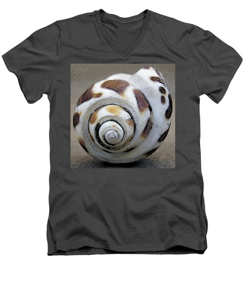 Seashells Spectacular No 2 Men's V-Neck T-Shirt by Ben and Raisa Gertsberg