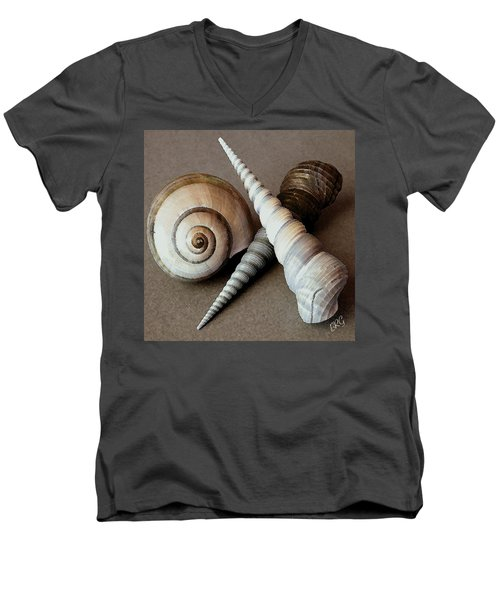 Seashells Spectacular No 24 Men's V-Neck T-Shirt by Ben and Raisa Gertsberg