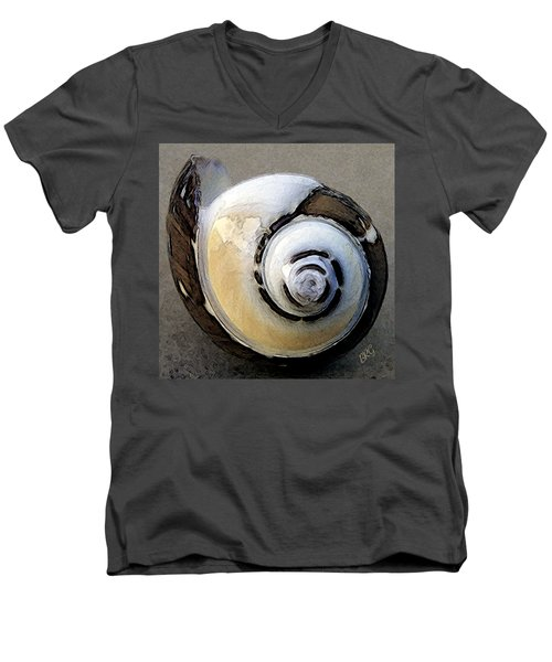 Seashells Spectacular No 3 Men's V-Neck T-Shirt by Ben and Raisa Gertsberg
