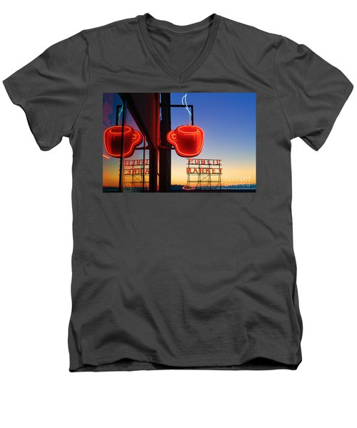 Seattle Coffee Men's V-Neck T-Shirt
