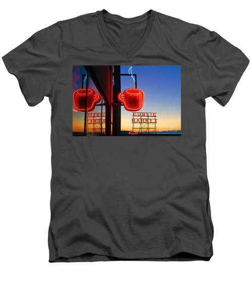 Seattle Coffee Men's V-Neck T-Shirt