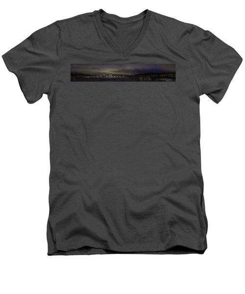 Seattle Skyline Men's V-Neck T-Shirt