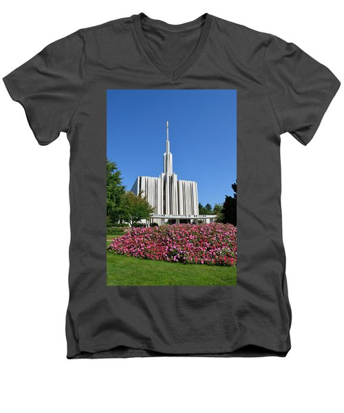 Seattle Temple Men's V-Neck T-Shirt