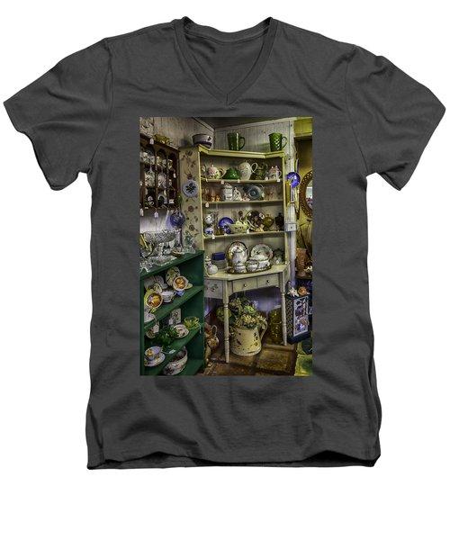 Second Hand Rose Men's V-Neck T-Shirt by Lynn Palmer