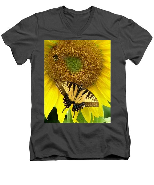 Secret Lives Of Sunflowers Men's V-Neck T-Shirt
