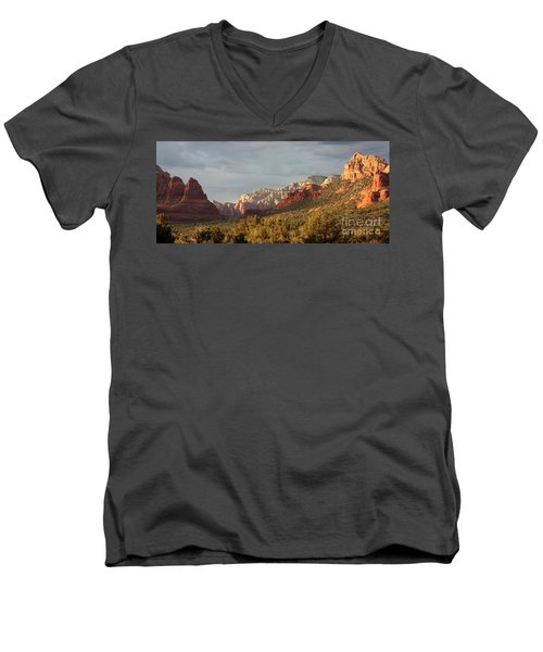 Sedona Sunshine Panorama Men's V-Neck T-Shirt