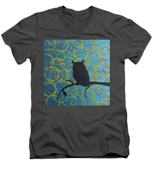 Men's V-Neck T-Shirt featuring the painting Seer by Jacqueline McReynolds