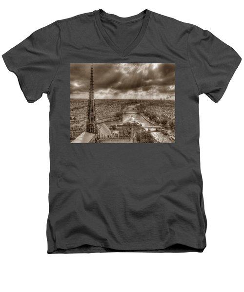 Seine From Notre Dame Men's V-Neck T-Shirt