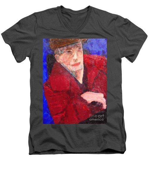 Self-portrait Men's V-Neck T-Shirt by Donald J Ryker III