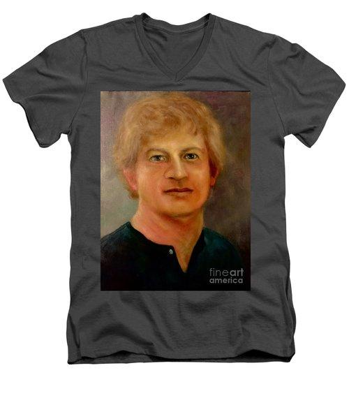 Self Portrait Men's V-Neck T-Shirt by Randy Burns