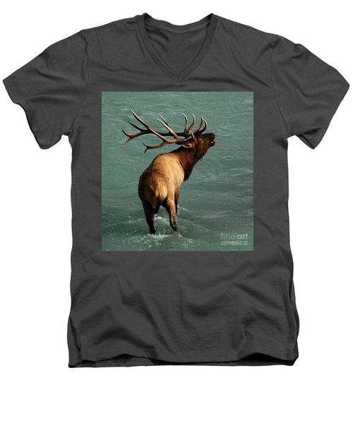 Sending A Challenge Men's V-Neck T-Shirt