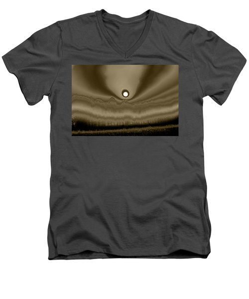 Sepia Sunrise Men's V-Neck T-Shirt