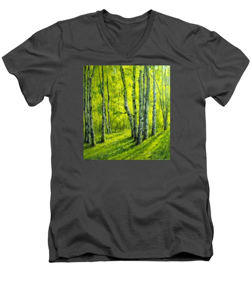September In The Woods Men's V-Neck T-Shirt