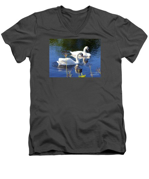 Men's V-Neck T-Shirt featuring the photograph Serenade Of  Love by Lingfai Leung