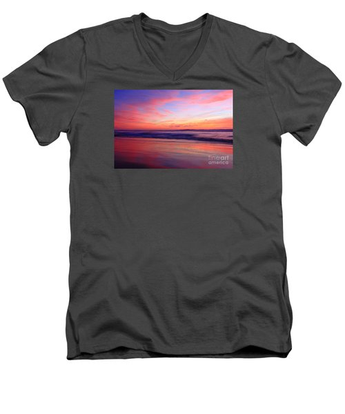 Serene Oceanside Glow Men's V-Neck T-Shirt