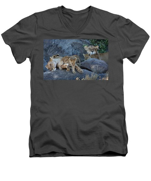 Serengeti Pride Men's V-Neck T-Shirt
