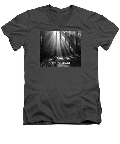 Serenity Awaits Men's V-Neck T-Shirt by Brian Chase
