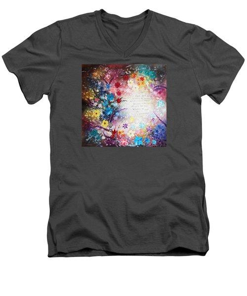 Serenity Prayer Men's V-Neck T-Shirt by Patricia Lintner