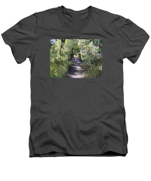 Serenity Men's V-Neck T-Shirt by Sheri Keith