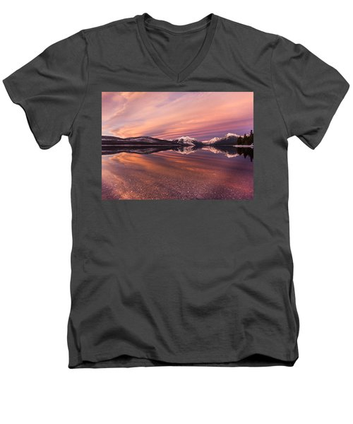 Setting On Glacier Men's V-Neck T-Shirt