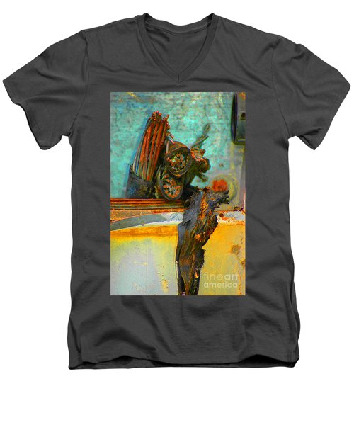 Men's V-Neck T-Shirt featuring the photograph Severed  by Christiane Hellner-OBrien