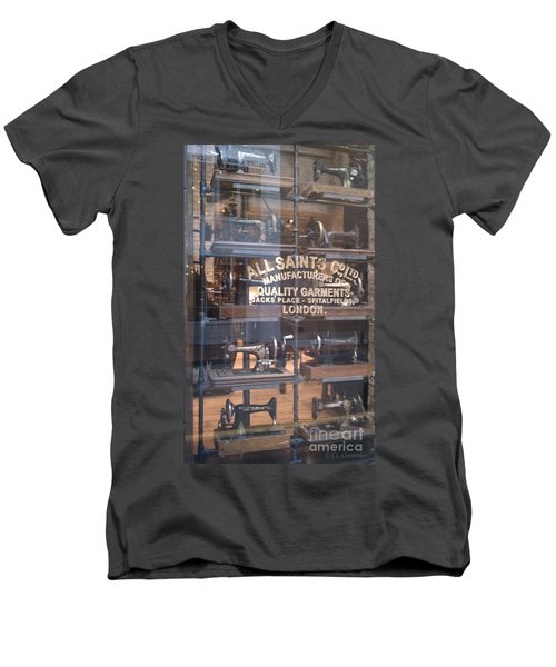 Sew What Men's V-Neck T-Shirt by Carol Lynn Coronios
