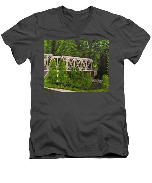 Sewalls Falls Bridge Men's V-Neck T-Shirt