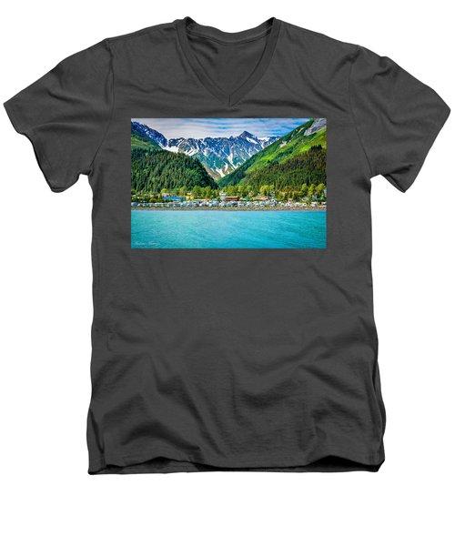 Seward Men's V-Neck T-Shirt by Andrew Matwijec