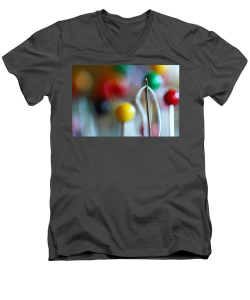 Sewing Men's V-Neck T-Shirt by Michael Eingle