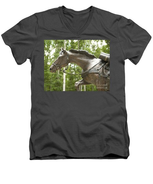 Sgt Reckless Men's V-Neck T-Shirt by Carol Lynn Coronios