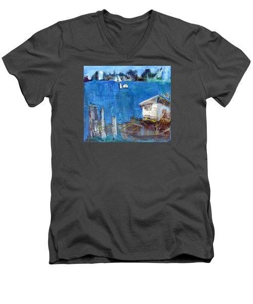 Shack On The Bay Men's V-Neck T-Shirt by Betty Pieper