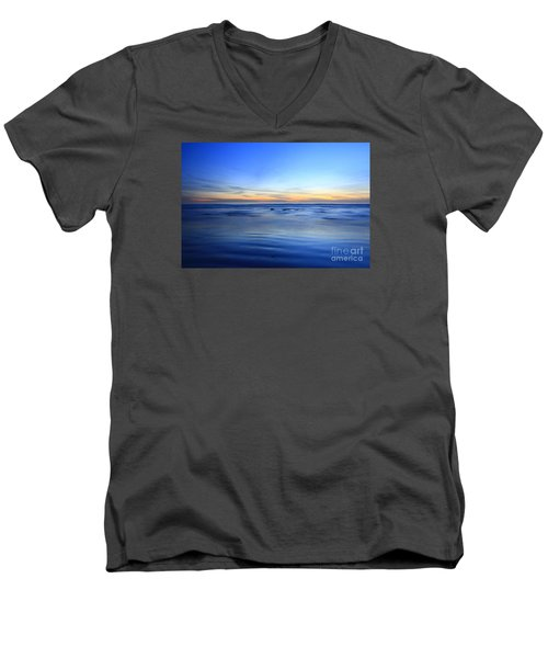 Men's V-Neck T-Shirt featuring the photograph Rocks In Surf Carlsbad by John F Tsumas