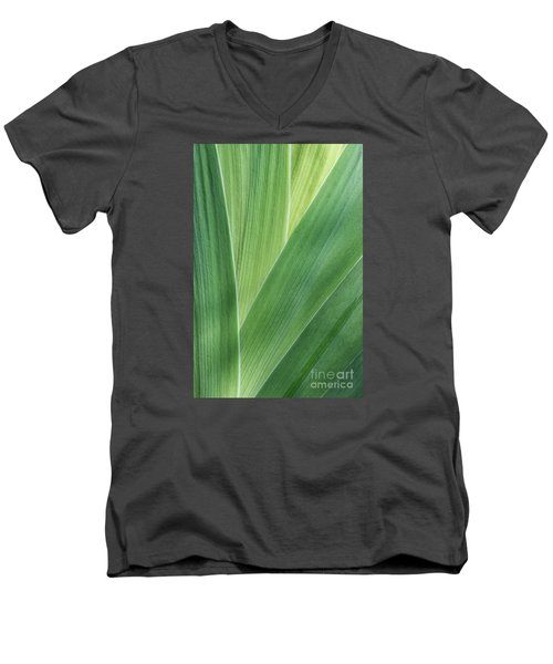 Men's V-Neck T-Shirt featuring the photograph Shades Of Green #2 by Judy Whitton