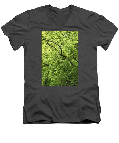 Men's V-Neck T-Shirt featuring the photograph Shades Of Green by Amy Gallagher
