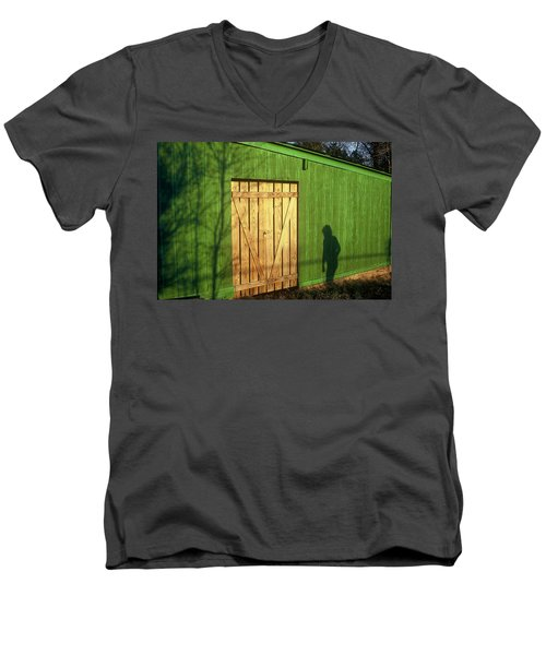 Shadow Man Men's V-Neck T-Shirt by Rodney Lee Williams