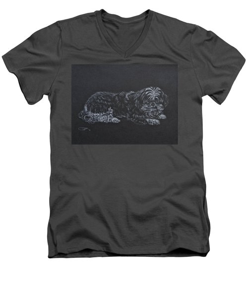 Shadow Men's V-Neck T-Shirt by Michele Myers