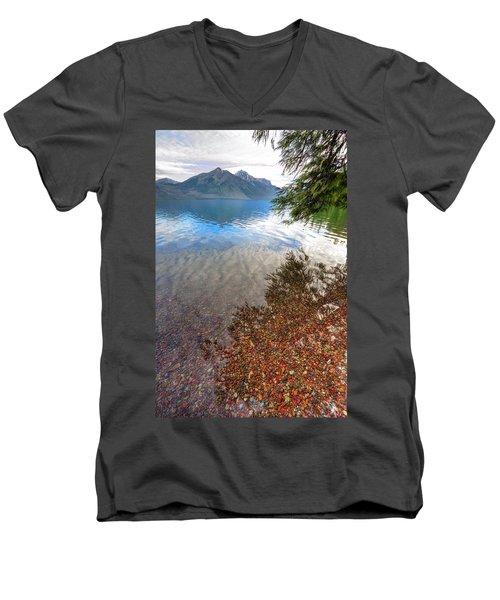 Shadow Pebbles Men's V-Neck T-Shirt
