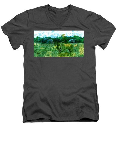 Shadows On The Land Men's V-Neck T-Shirt