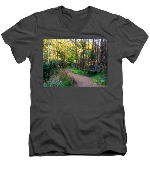 Men's V-Neck T-Shirt featuring the photograph Shady Dell by Kate Brown