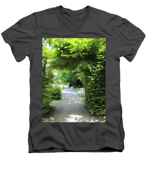 Men's V-Neck T-Shirt featuring the photograph Shady Retreat by Pema Hou