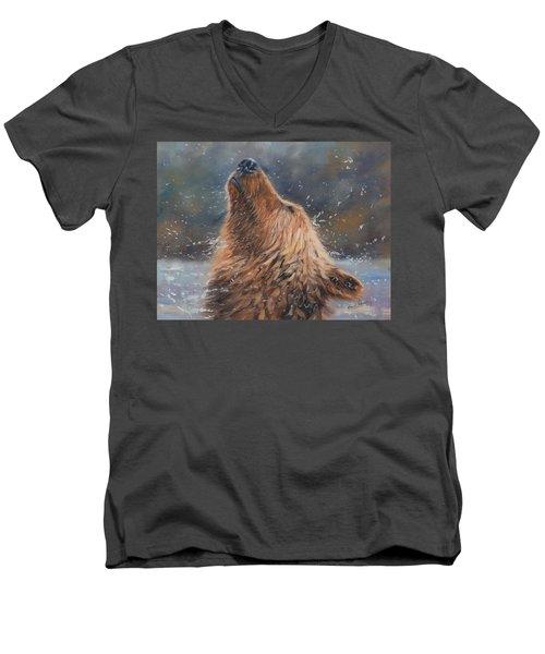 Shake It Men's V-Neck T-Shirt by David Stribbling