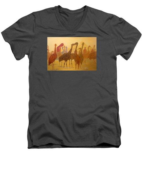 Shapes Just Shapes Formas Nada Mas Men's V-Neck T-Shirt by Lazaro Hurtado
