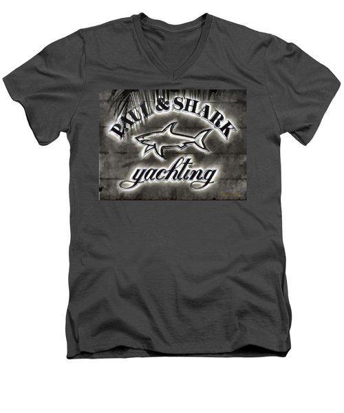 Shark Sign Men's V-Neck T-Shirt
