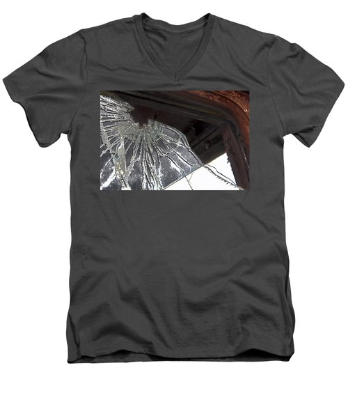 Men's V-Neck T-Shirt featuring the photograph Shattered by Lynn Sprowl