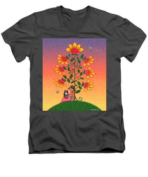 She Is Life Barnes And Noble Men's V-Neck T-Shirt