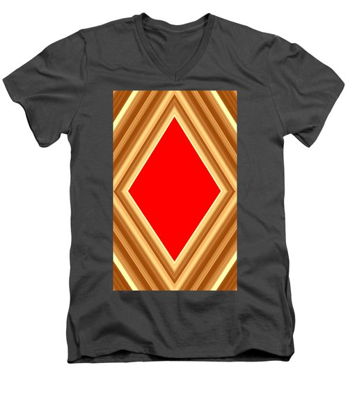 Men's V-Neck T-Shirt featuring the digital art She Said Love Was Red  by Cletis Stump