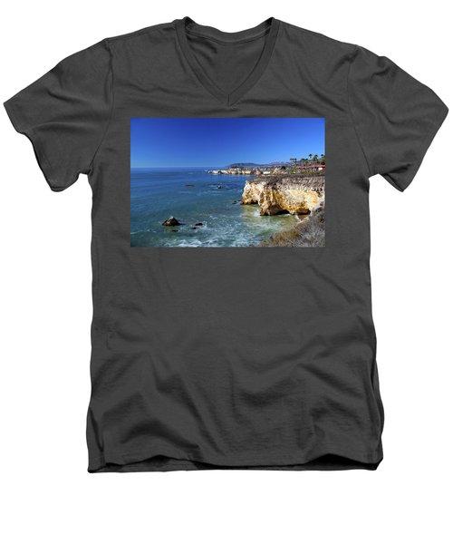 Shell Beach California Men's V-Neck T-Shirt