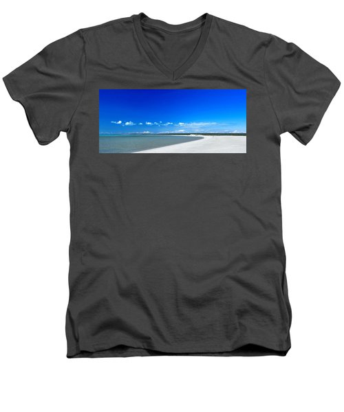 Men's V-Neck T-Shirt featuring the photograph Shell Beach by Yew Kwang